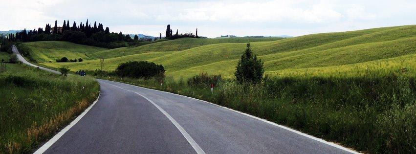 La via Lauretana nei pressi di Asciano