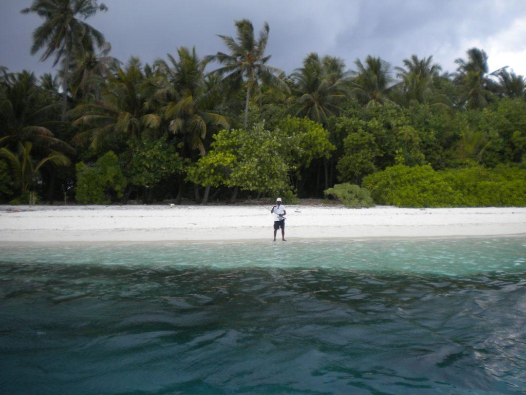Temporale alle Maldive