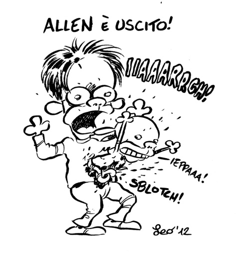 Leo Ortolani disegnato da Leo Ortolani