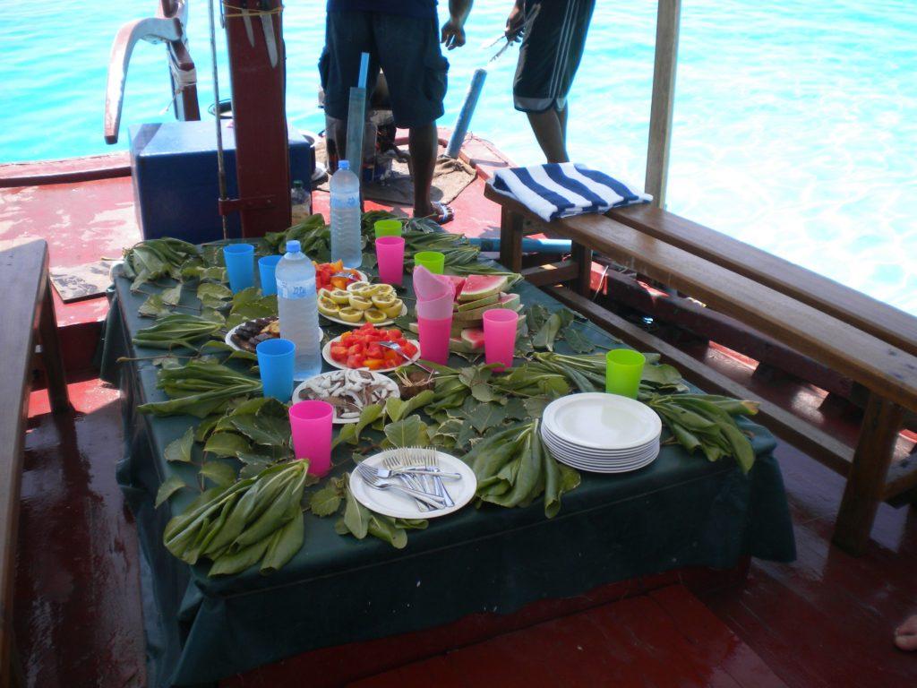 Pranzo in barca