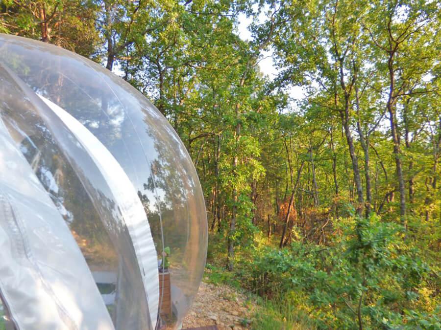 glamping in provenza esterno bubble room