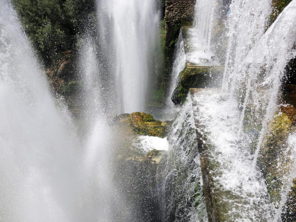 La fontana del Nettuno, dall'alto