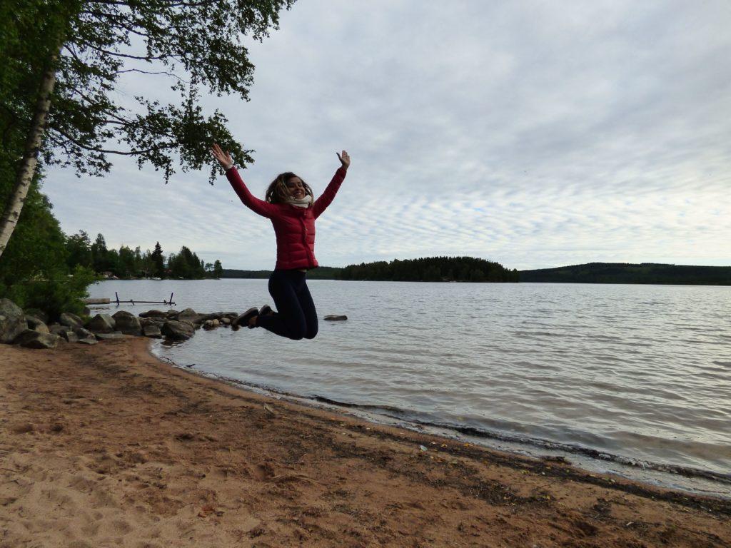 Lago Södra Hörken nella Svezia centrale