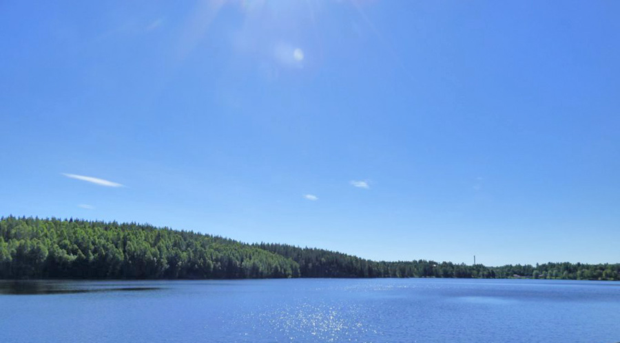Lago Svezia on the road