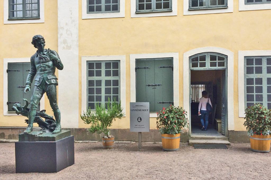 L'ingresso alla casa-museo di Linneo