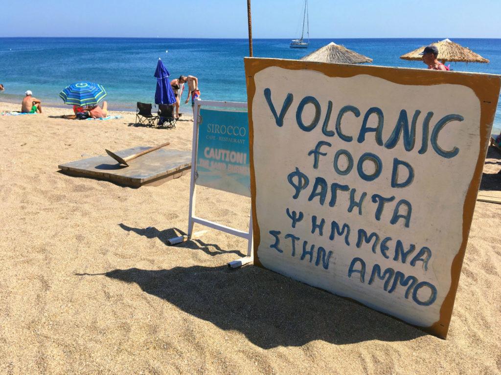 spiagge di milos sud vulcanic food
