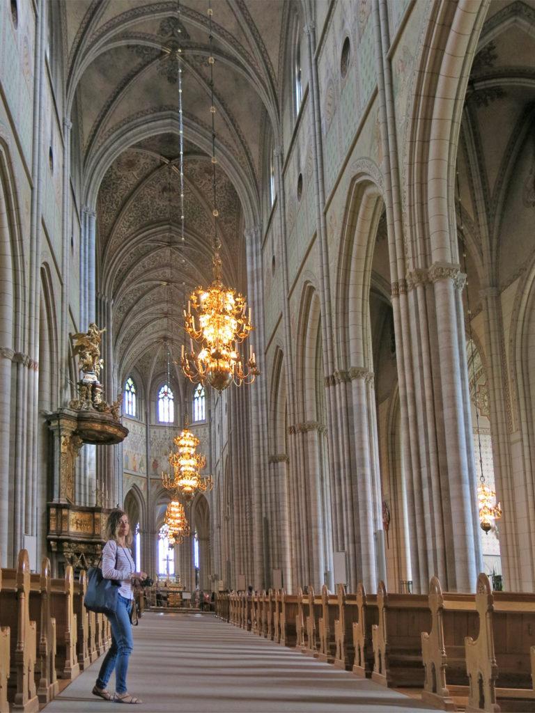 L'interno gotico della cattedrale di Uppsala