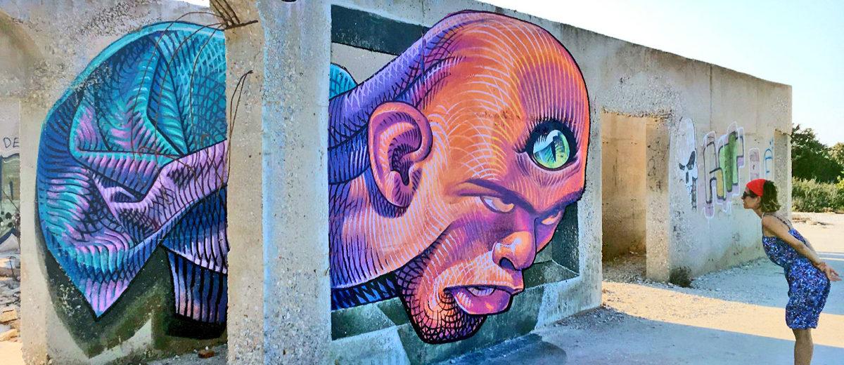 I murales di Naxos opera di WD