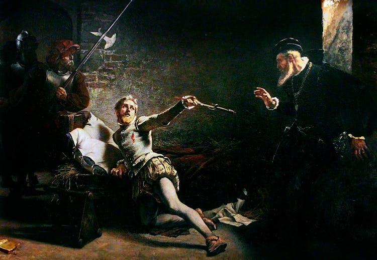 Nel dipinto di Gustaf Cederström la scena dell'uccisione di Nils Svantesson Sture (al centro) ad opera di Eric XIV (sulla destra)