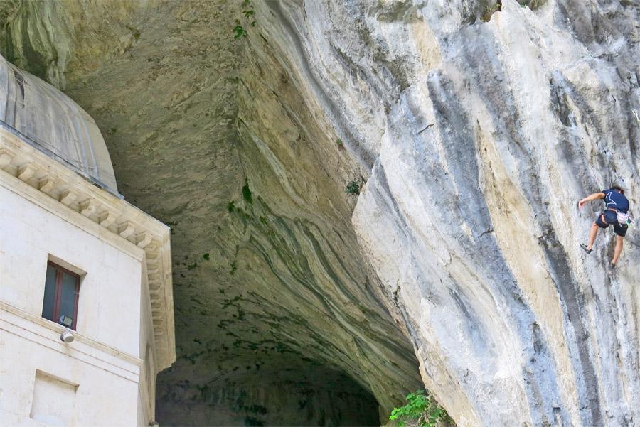 Climbing al tempio Valadier