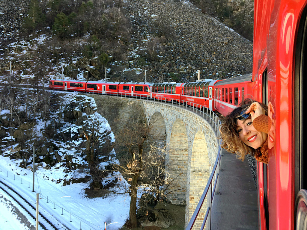 treno del bernina viadotto elicoidale