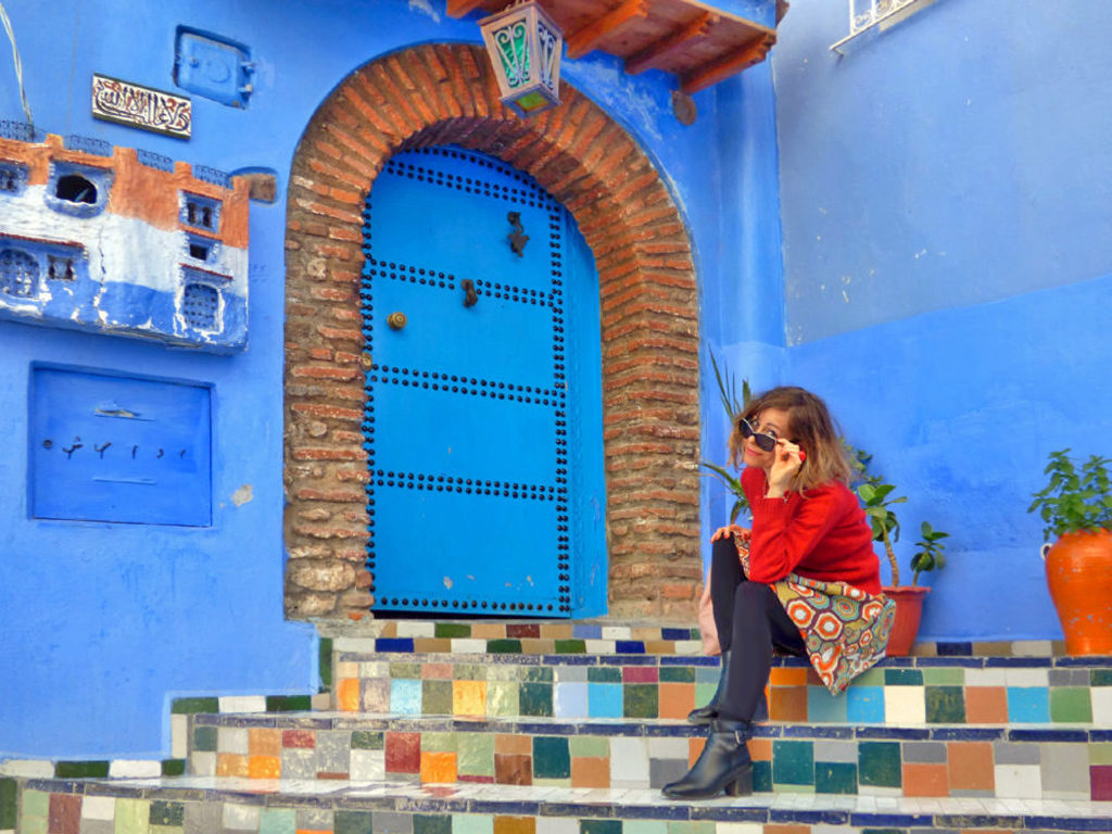 Scale colorate a Chefchaouen