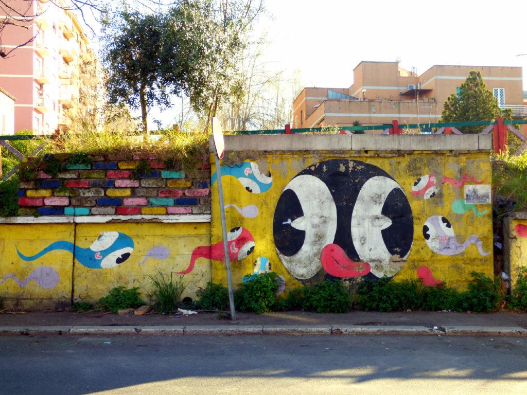 murale art pollinates Quadraro