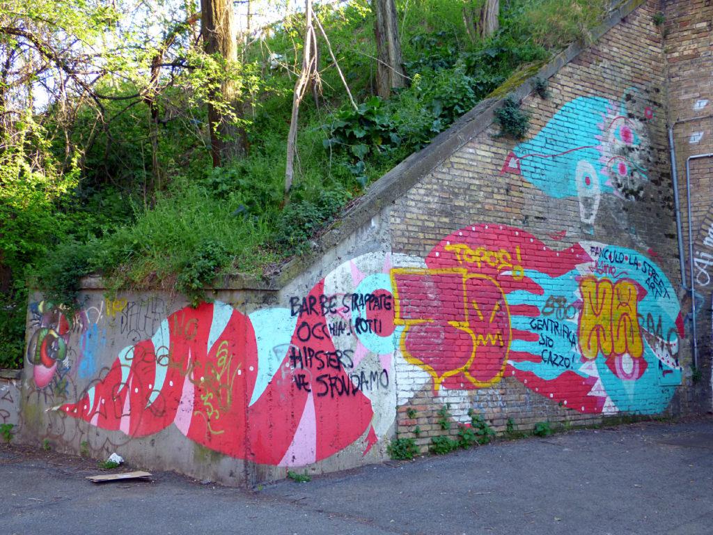 murales deturpato al Quadraro