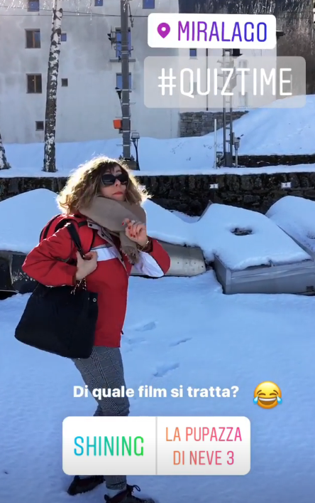 Storia Instagram treno bernina