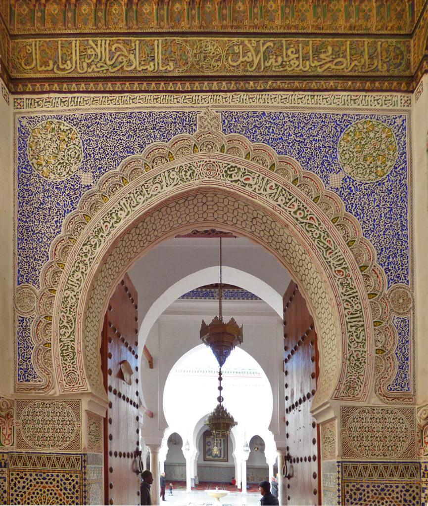 Marocco porta moschea