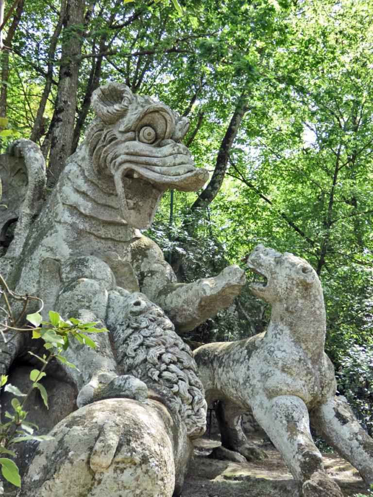 Il drago alato del Parco dei mostri di Bomarzo