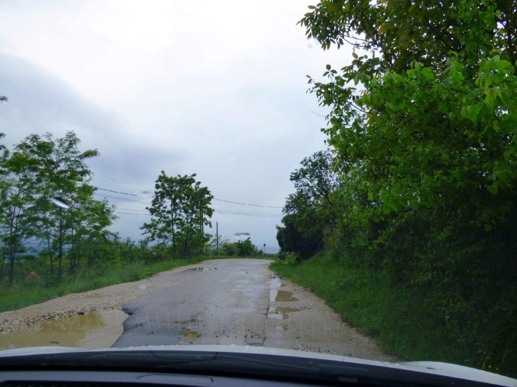 strada in Transilvania