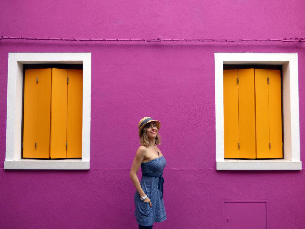 casa colorata a Burano