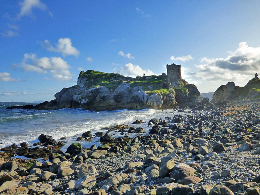 Kinbane Castle nel nord dell'Irlanda