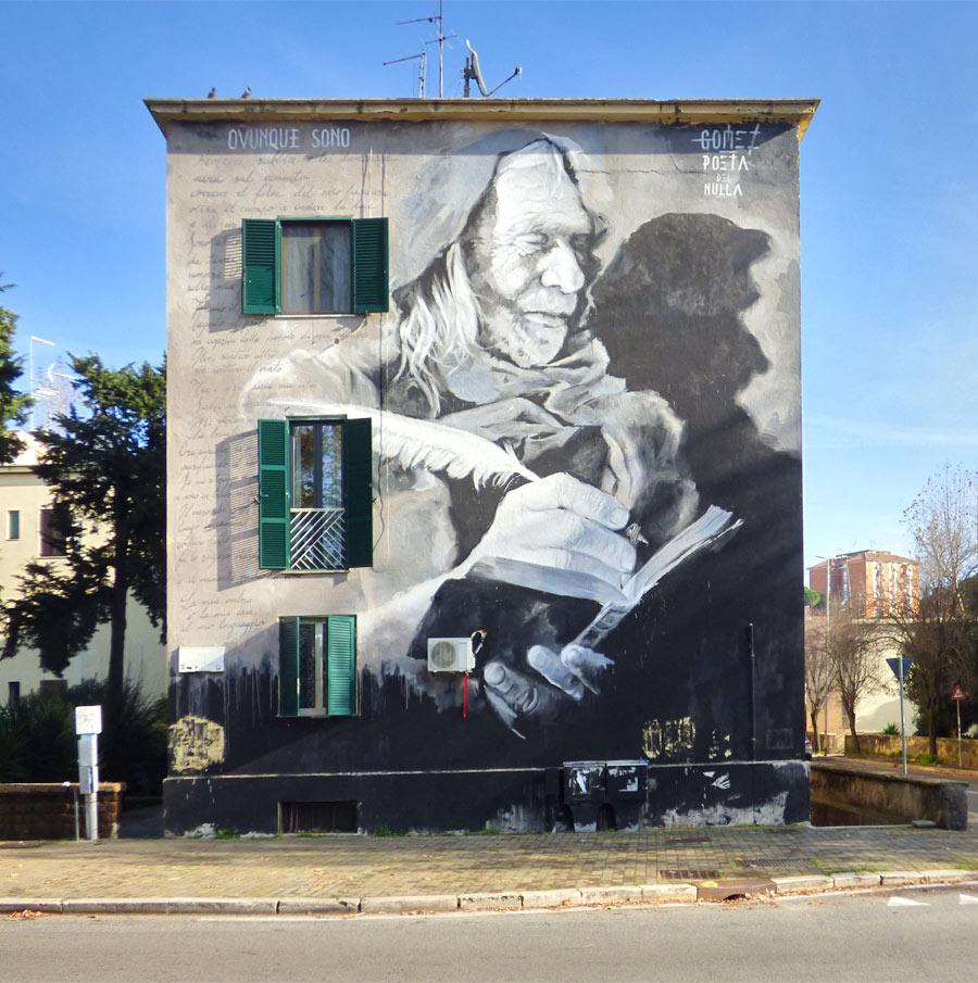 Ritratto di Dario D'Amico murale Trullo