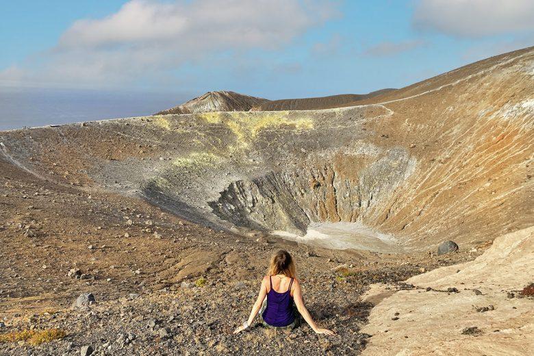 Isola di Vulcano cratere